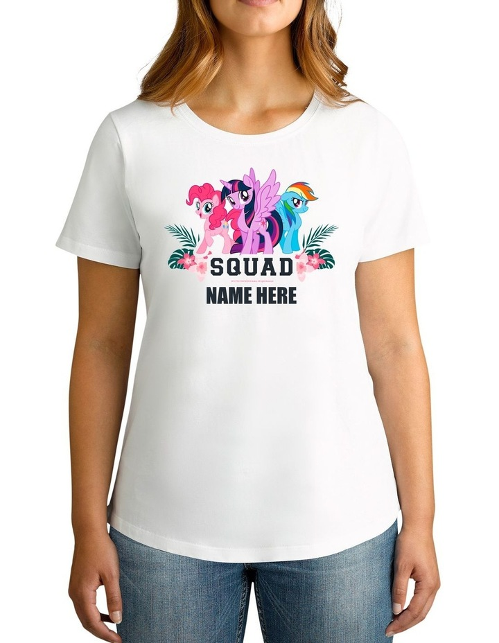 Women's My Little Pony Squad Personalised Cotton T-Shirt image 1