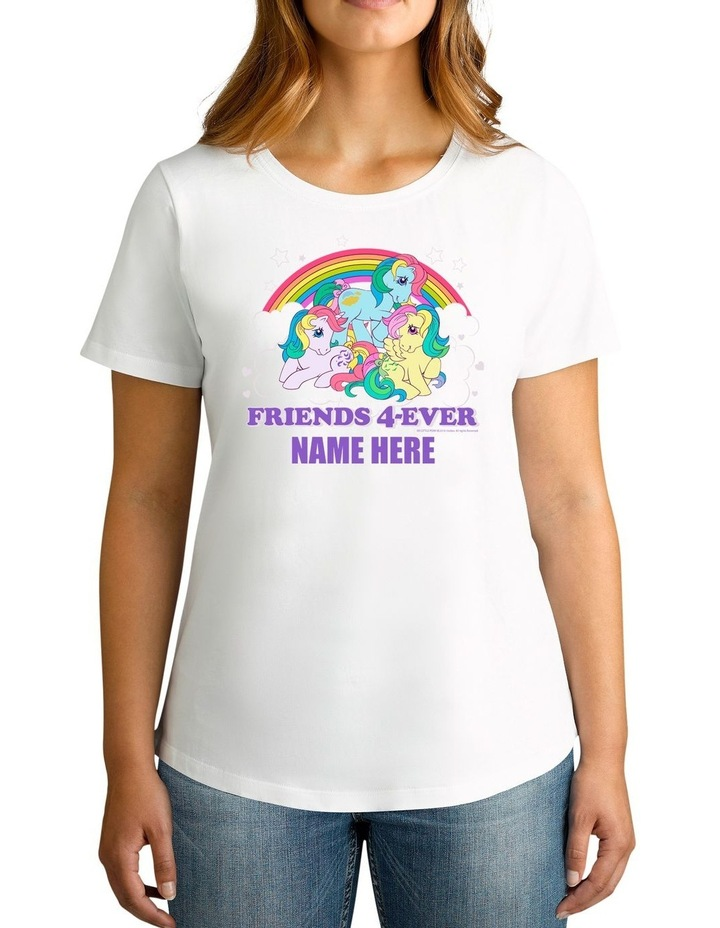 Women's My Little Pony Friends 4-Ever Personalised Cotton T-Shirt image 1