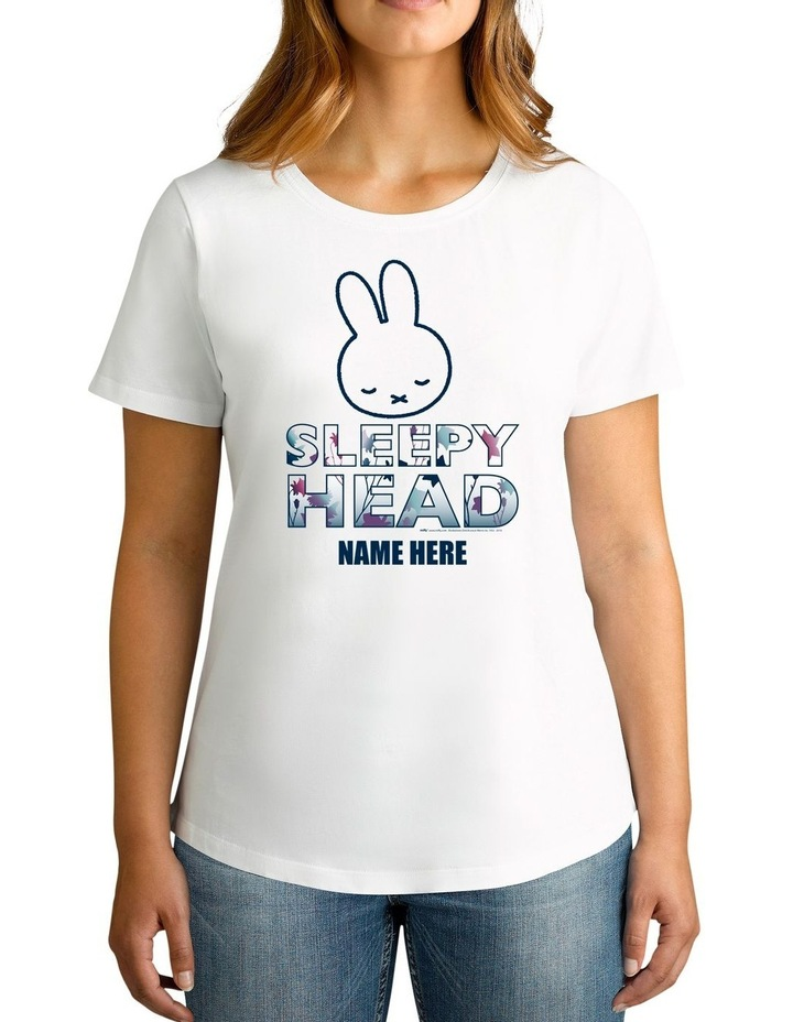 Women's Miffy Sleepy Head Personalised Cotton T-Shirt image 1