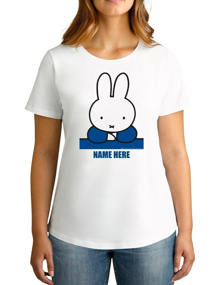 Twidla Women's Miffy Blue Personalised Cotton T-Shirt image 1
