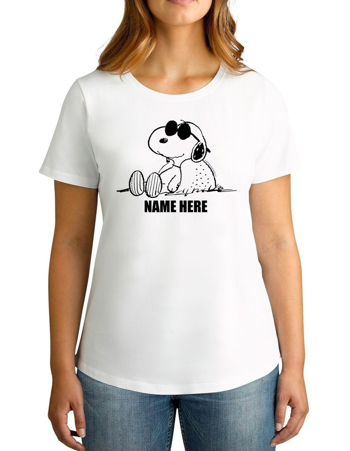 Women's Peanuts Sunglasses Snoopy Personalised Cotton T-Shirt image 1