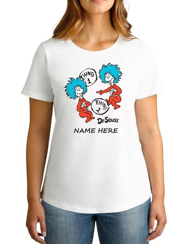 Women's Dr.Seuss 2 Things Personalised Cotton T-Shirt image 1