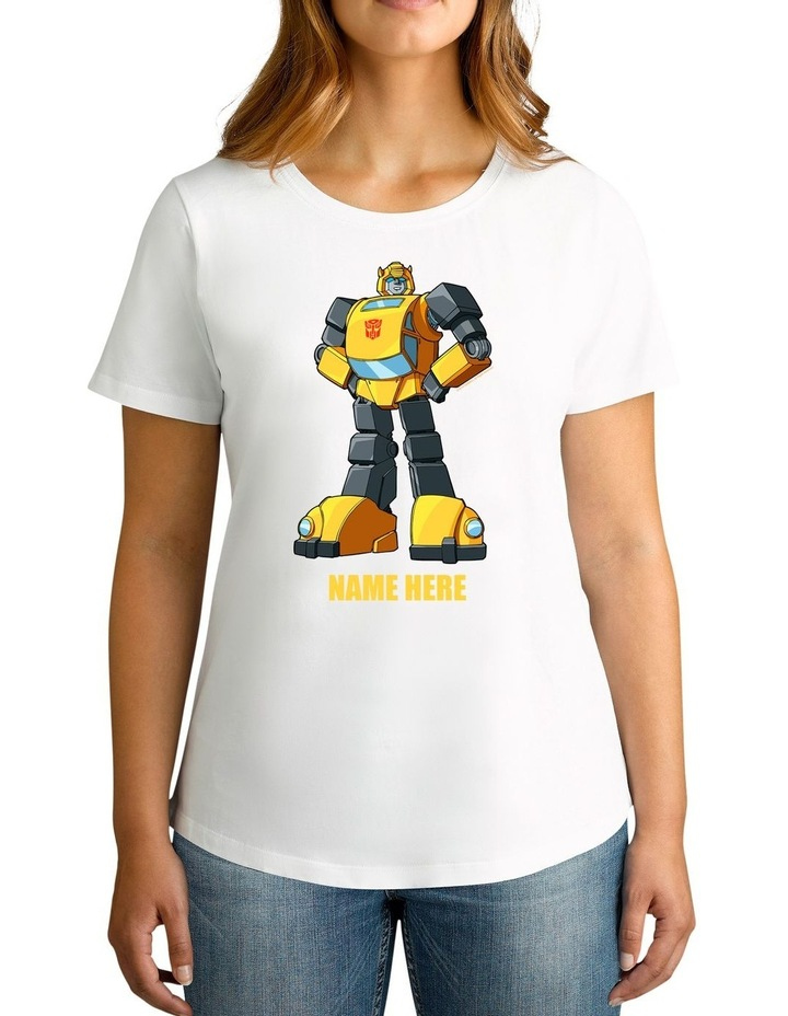 Twidla Women's Transformers Bumblebee Standing Strong Personalised Cotton T-Shirt image 1