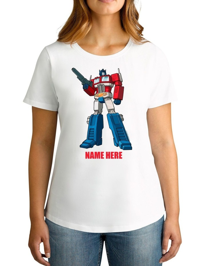 Women's Transformers Optimus Prime Standing Strong Personalised Cotton T-Shirt image 1