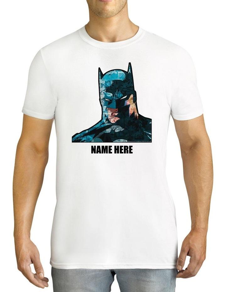 Men's DC Batman Personalised Cotton T-Shirt image 1
