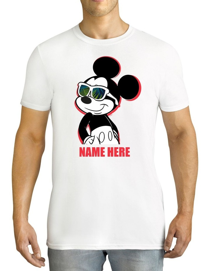 Men's Disney Mickey Mouse Personalised Cotton T-Shirt image 1