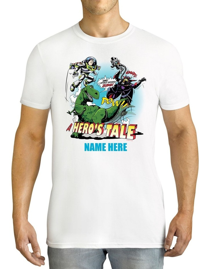 Men's Disney Toy Story A Hero's Tale Personalised Cotton T-Shirt image 1
