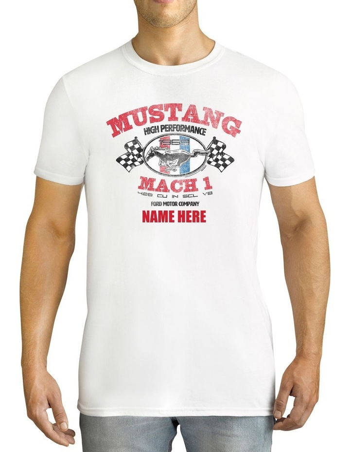 Men's Ford Mustang Mach 1 Personalised Cotton T-Shirt image 1