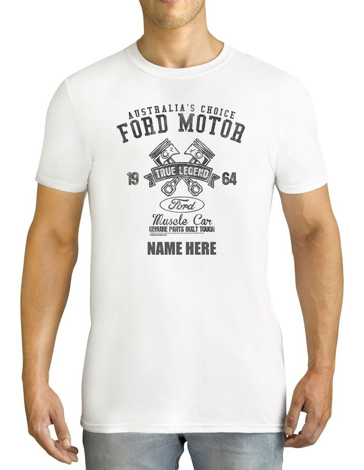 Men's Ford 1964 True Legend Personalised Cotton T-Shirt image 1