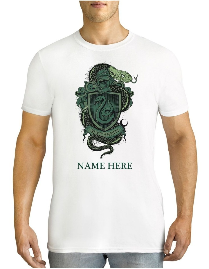 Men's Harry Potter Slytherin Personalised Cotton T-Shirt image 1