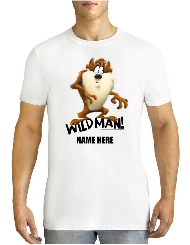 Men's Looney Tunes Tassie Devil Wild Man Personalised Cotton T-Shirt image 1