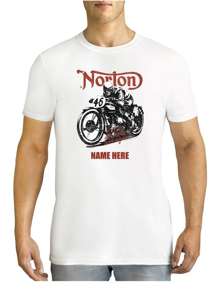 Men's Norton 46 Bike Personalised Cotton T-Shirt image 1