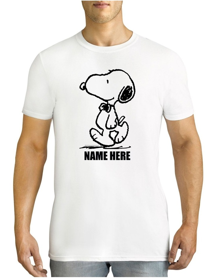 726db00c1 Twidla Men's Peanuts Snoopy Personalised Cotton T-Shirt image 1