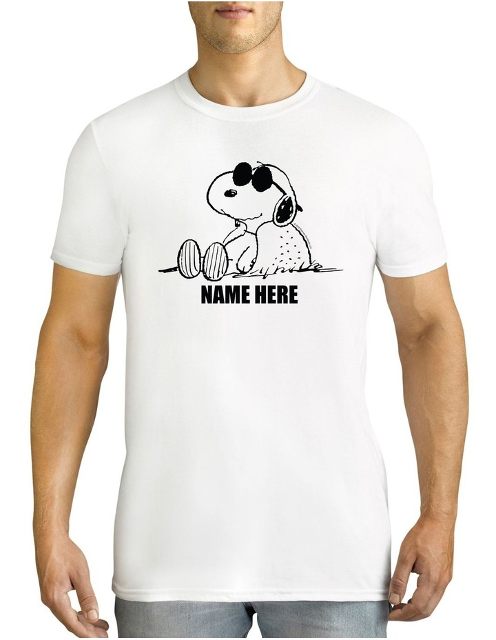 Men's Peanuts Sunglasses Snoopy Personalised Cotton T-Shirt image 1