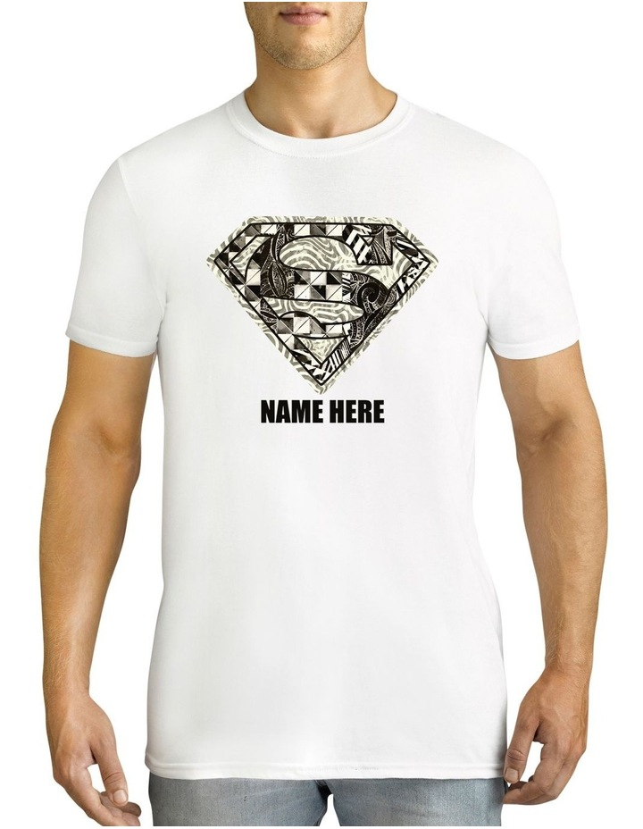 Men's DC Superman Monochrome Logo Personalised Cotton T-Shirt image 1