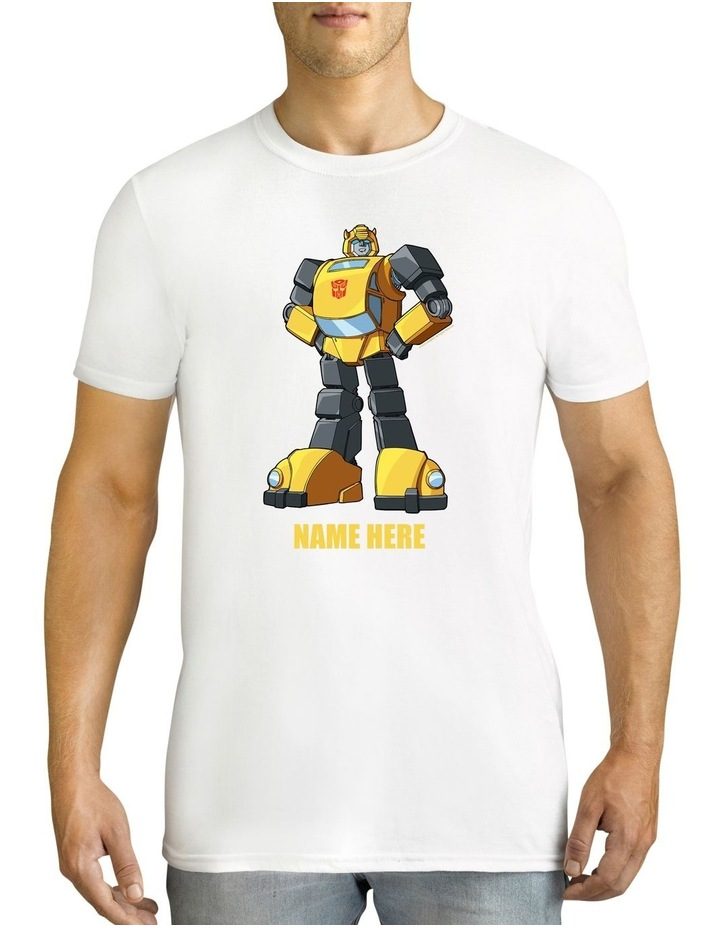 Men's Transformers Bumblebee Standing Strong Personalised Cotton T-Shirt image 1