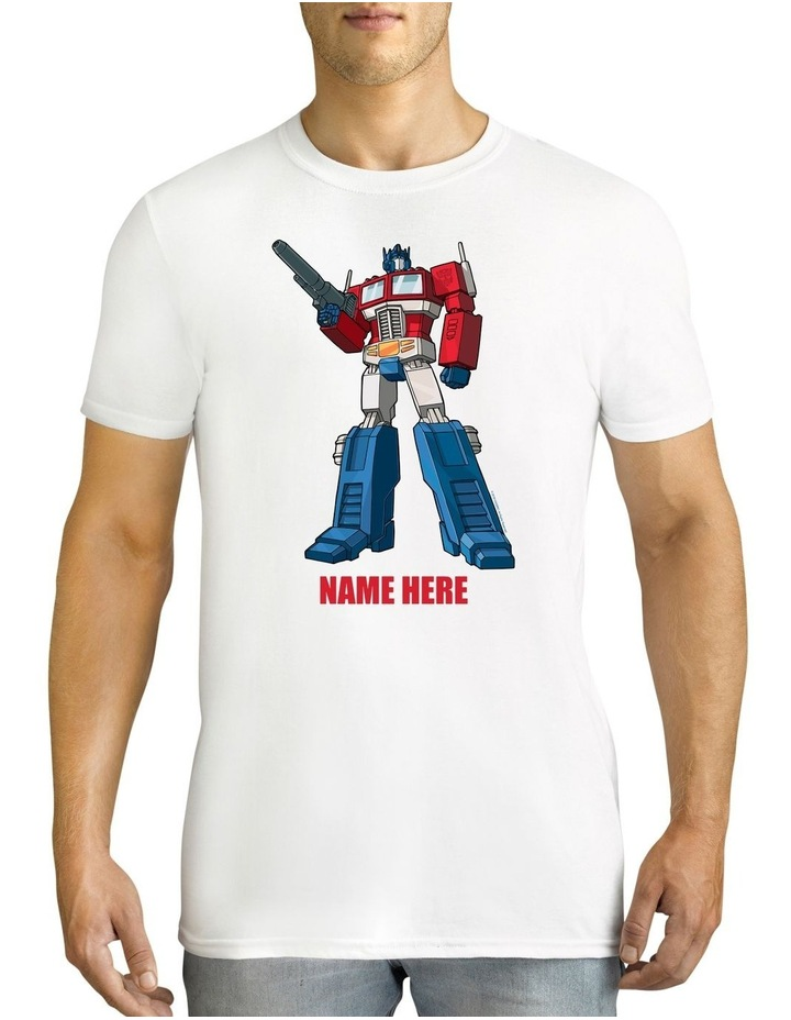 Men's Transformers Optimus Prime Standing Strong Personalised Cotton T-Shirt image 1