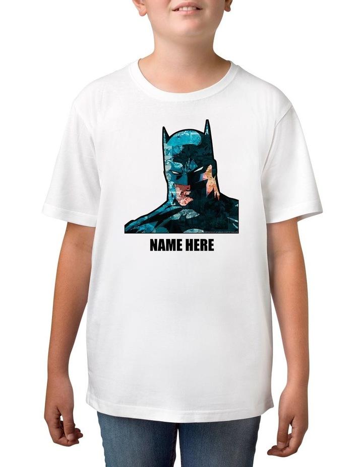 Boy's DC Batman Personalised Cotton T-Shirt image 1