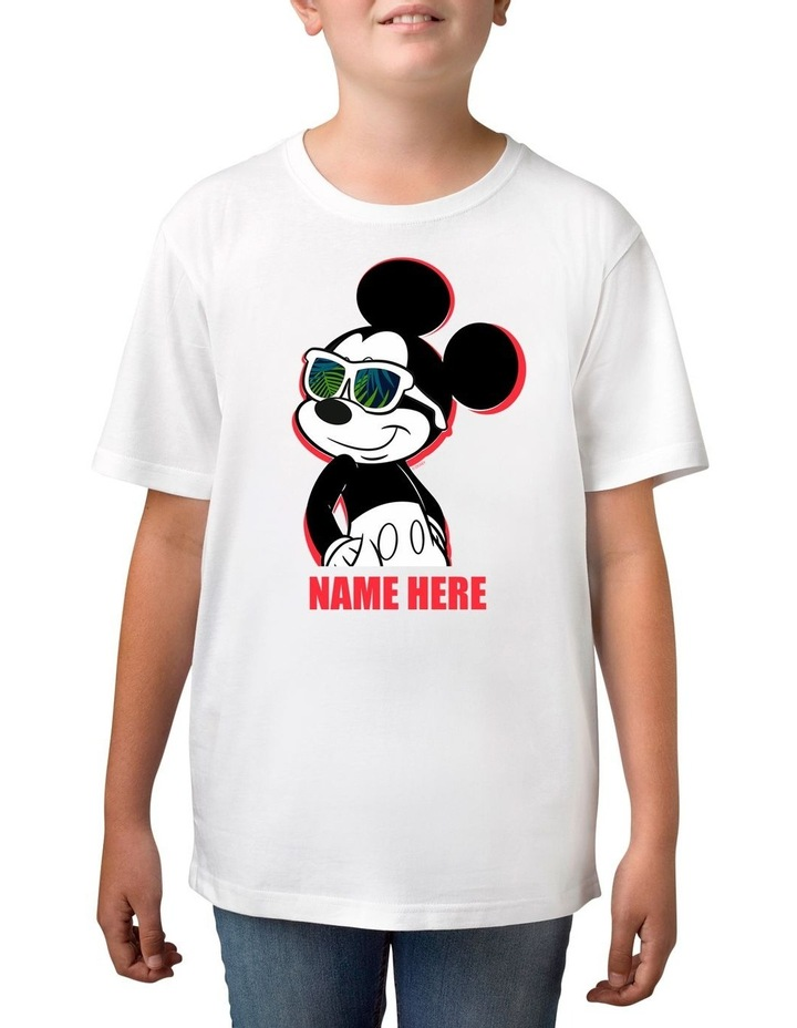 Boy's Disney Mickey Mouse Personalised Cotton T-Shirt image 1