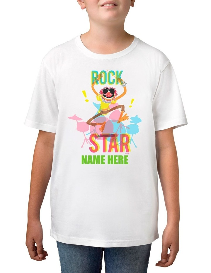 Boy's Disney The Muppets Animal Rock Star Personalised Cotton T-Shirt image 1