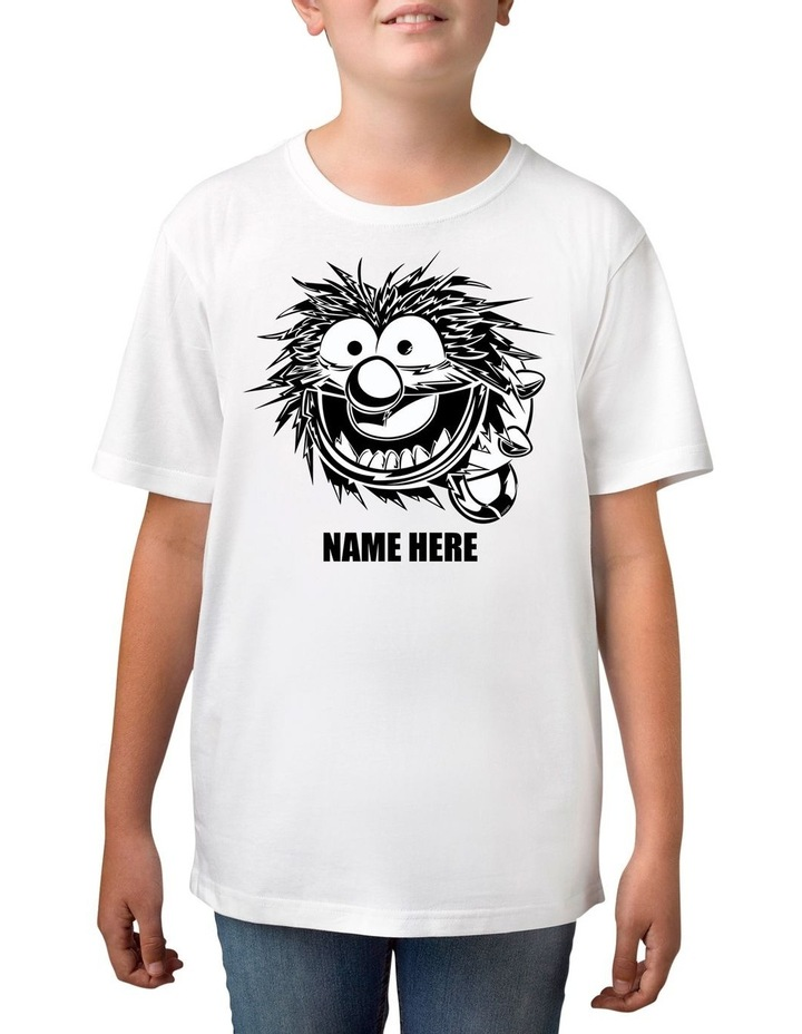 Boy's Disney The Muppets Animal Sketch Personalised Cotton T-Shirt image 1