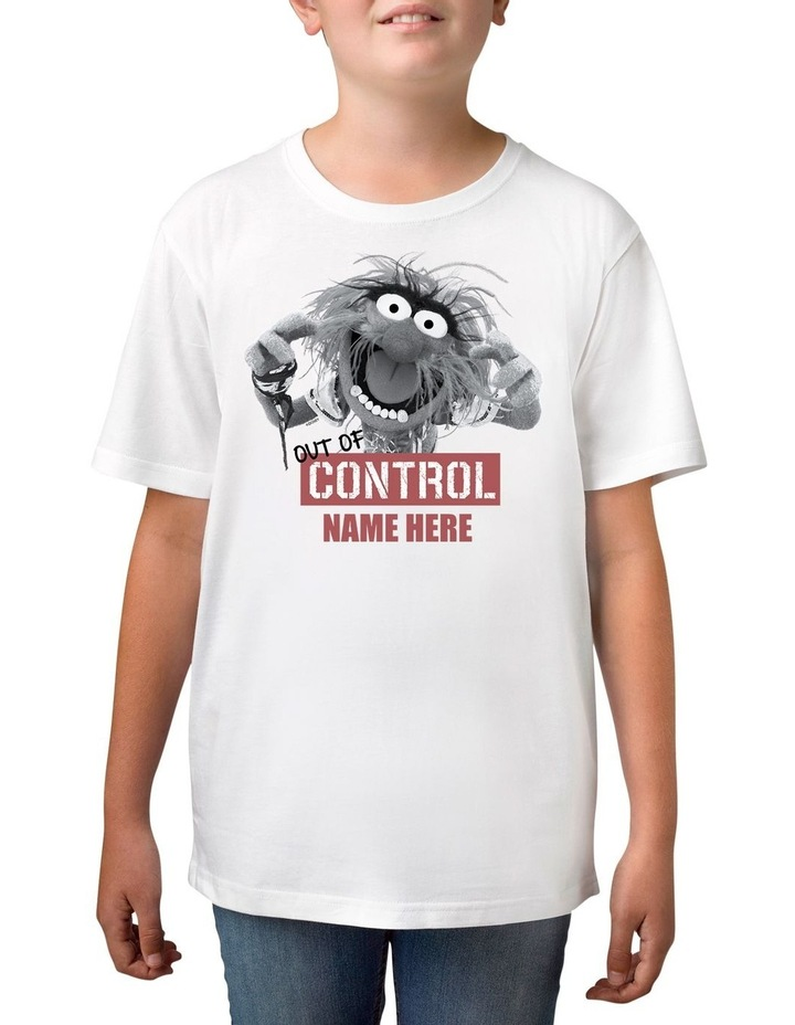 Boy's Disney The Muppets Animal Out of Control Personalised Cotton T-Shirt image 1