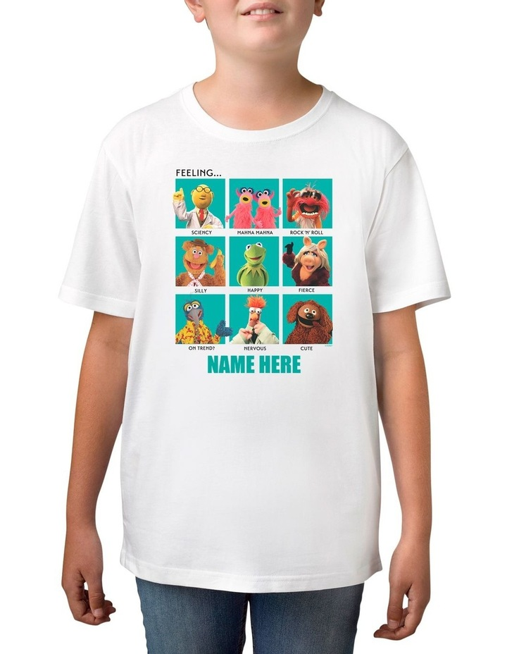 Boy's Disney The Muppets Characters Feeling Personalised Cotton T-Shirt image 1