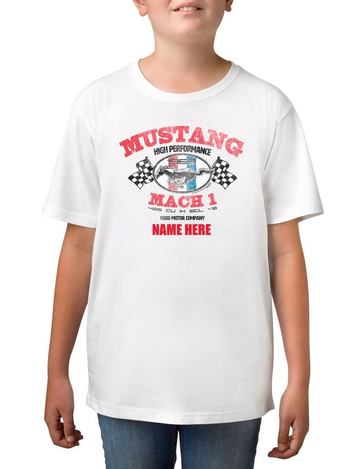Boy's Ford Mustang Mach 1 Personalised Cotton T-Shirt image 1