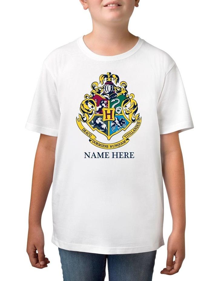 Boy's Harry Potter Emblem Personalised Cotton T-Shirt image 1
