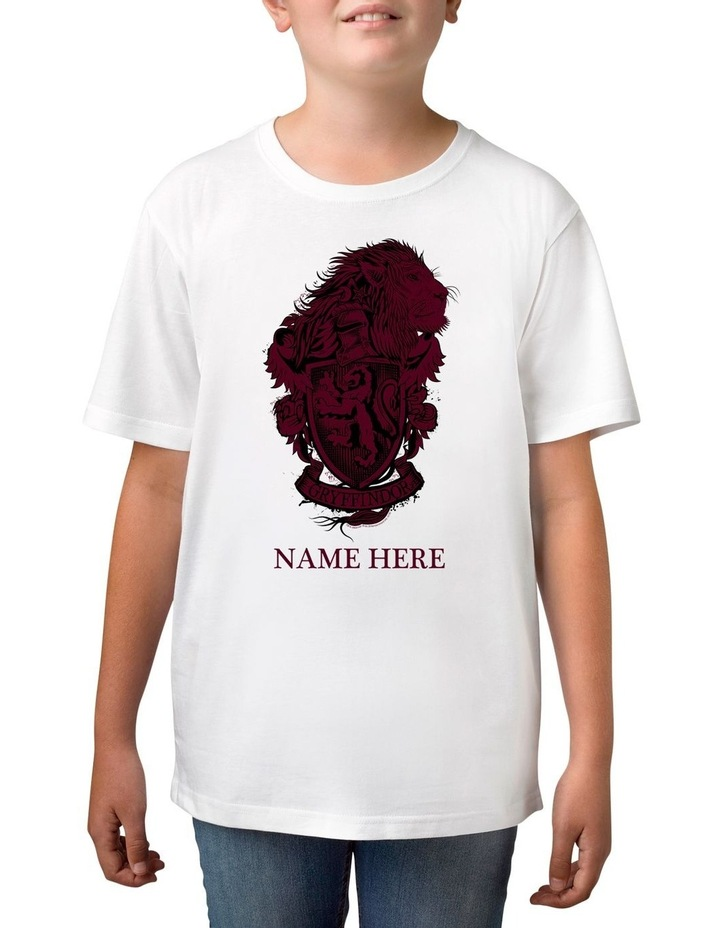 Boy's Harry Potter Gryffindor Personalised Cotton T-Shirt image 1
