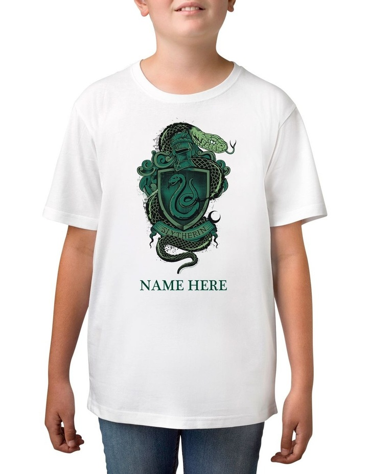 Boy's Harry Potter Slytherin Personalised Cotton T-Shirt image 1