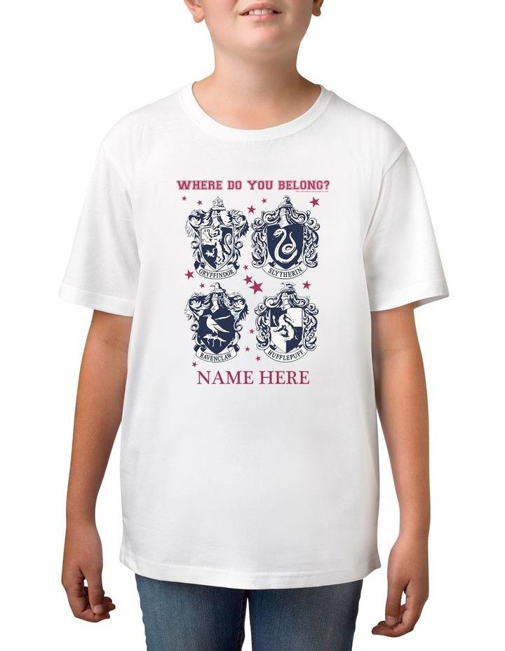 Boy's Harry Potter Belong Personalised Cotton T-Shirt image 1