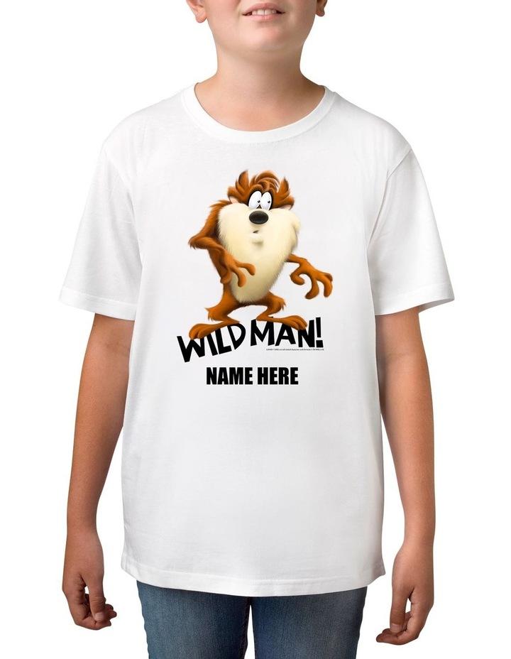 Boy's Looney Tunes Tassie Devil Wild Man Personalised Cotton T-Shirt image 1
