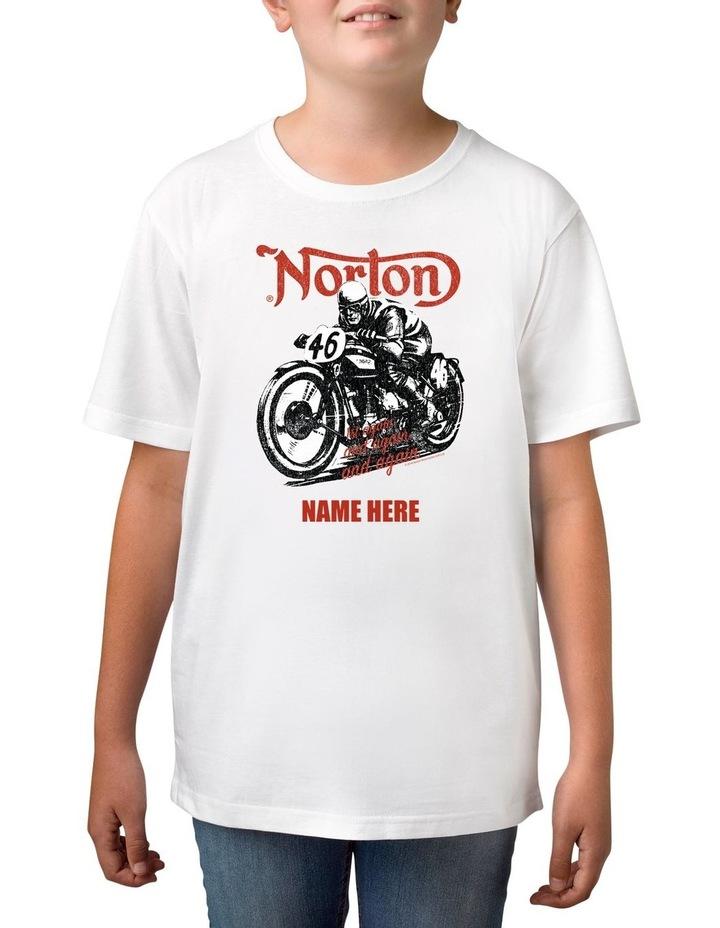 Boy's Norton 46 Personalised Cotton T-Shirt image 1