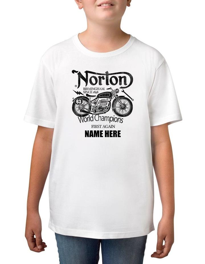 Boy's Norton World Champions Personalised Cotton T-Shirt image 1