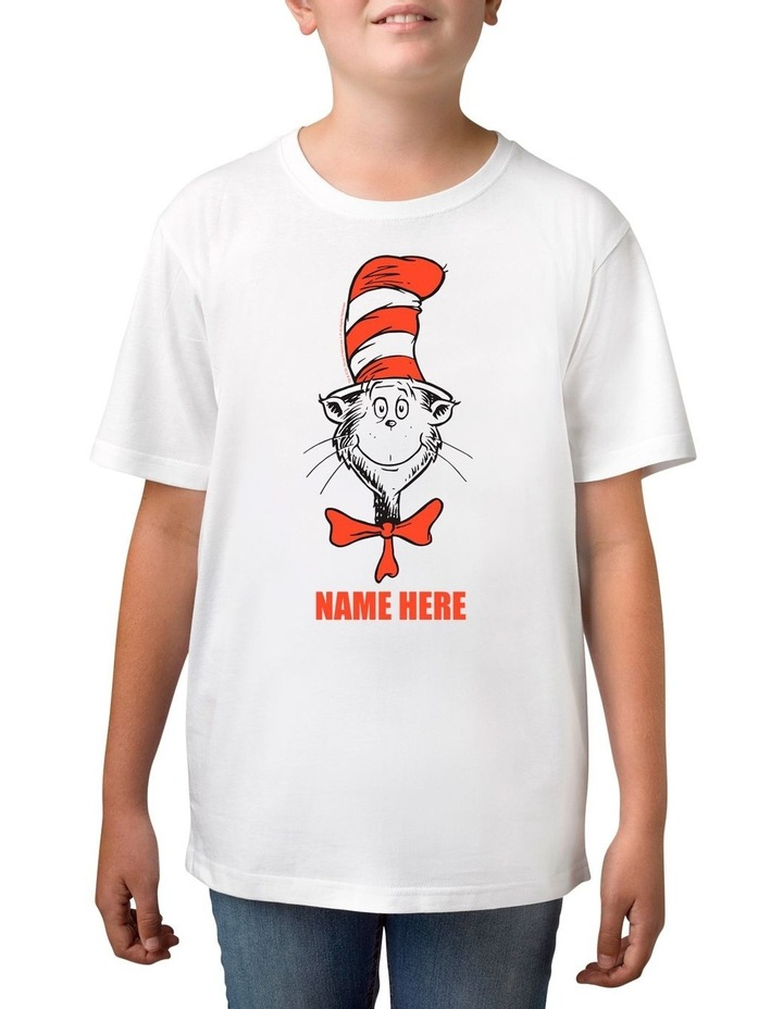 Boy's Dr Seuss Personalised Cotton T-Shirt image 1