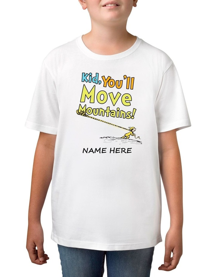 Boy's Dr Seuss Move Mountains Personalised Cotton T-Shirt image 1