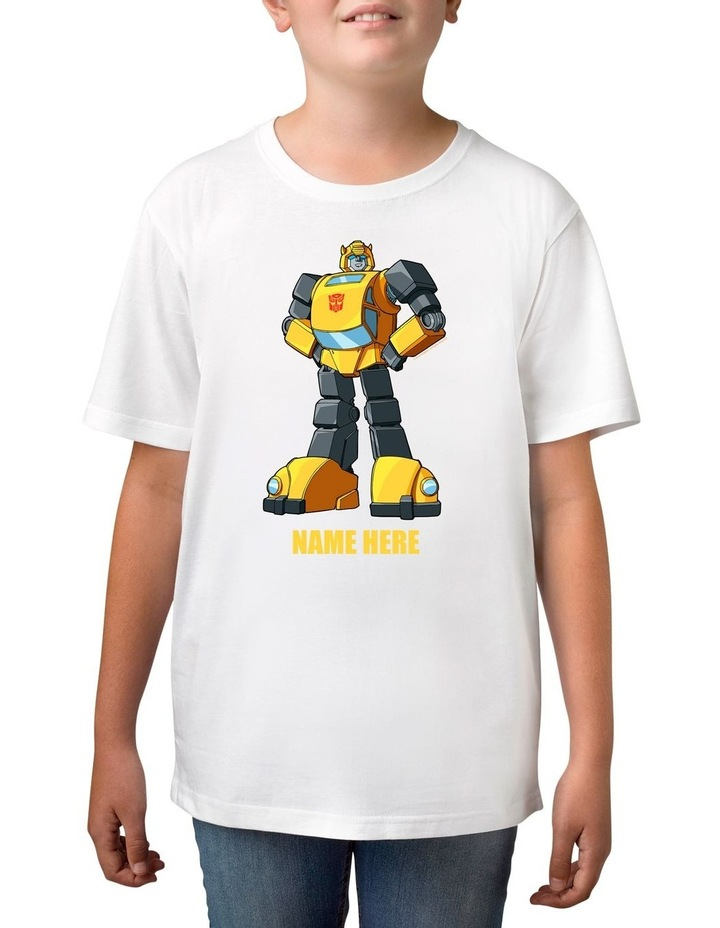 Boy's Transformers Bumblebee Personalised Cotton T-Shirt image 1