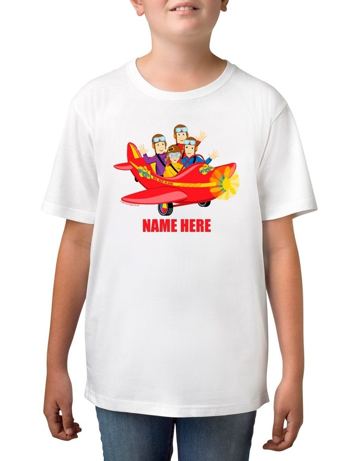 Boy's The Wiggles Big Red Plane Personalised Cotton T-Shirt image 1