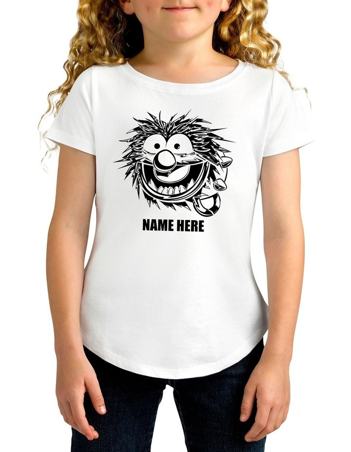 Girl's Disney The Muppets Animal Sketch Personalised Cotton T-Shirt image 1
