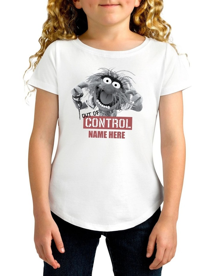 Girl's Disney The Muppets Animal Out Of Control Personalised Cotton T-Shirt image 1