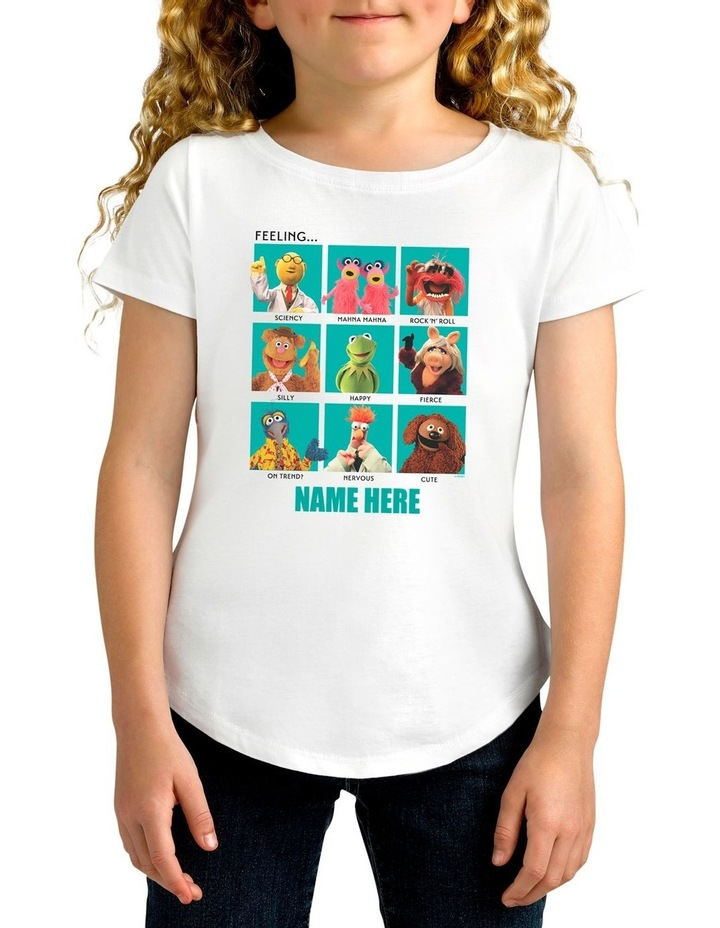 Girl's Disney The Muppets Characters Feeling Personalised Cotton T-Shirt image 1
