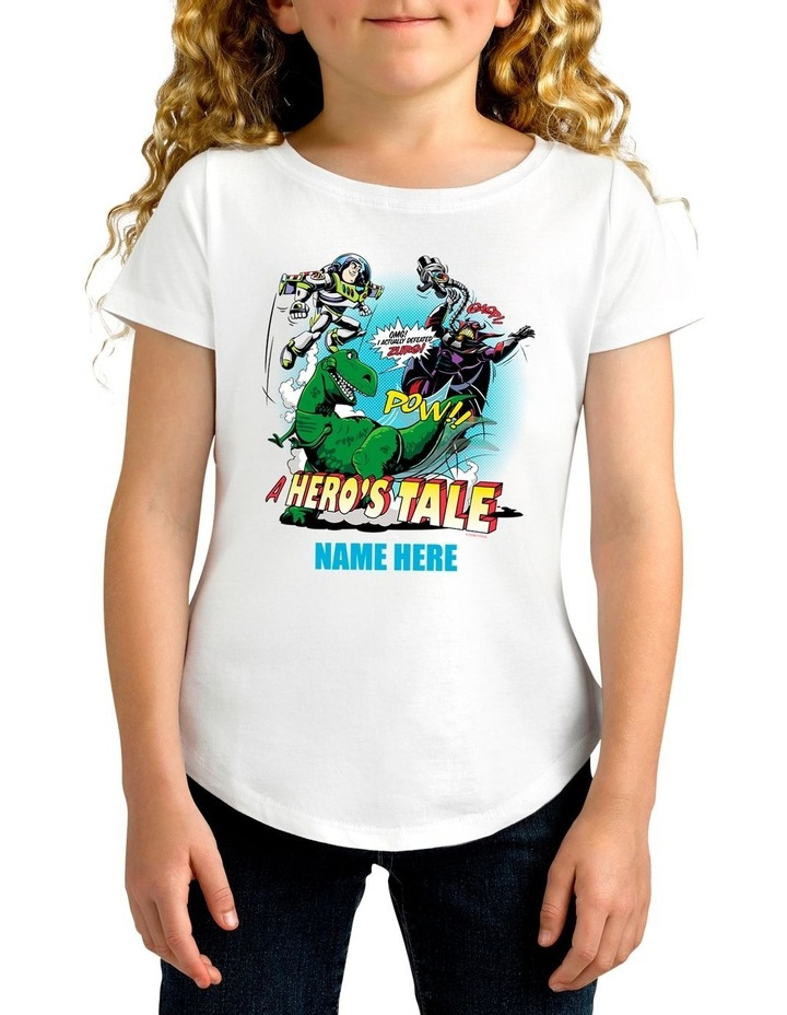 Girl's Disney Toy Story A Hero's Tale Personalised Cotton T-Shirt image 1