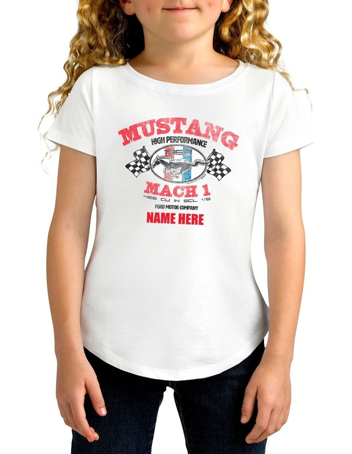 Girl's Ford Mustang Mach 1 Personalised Cotton T-Shirt image 1
