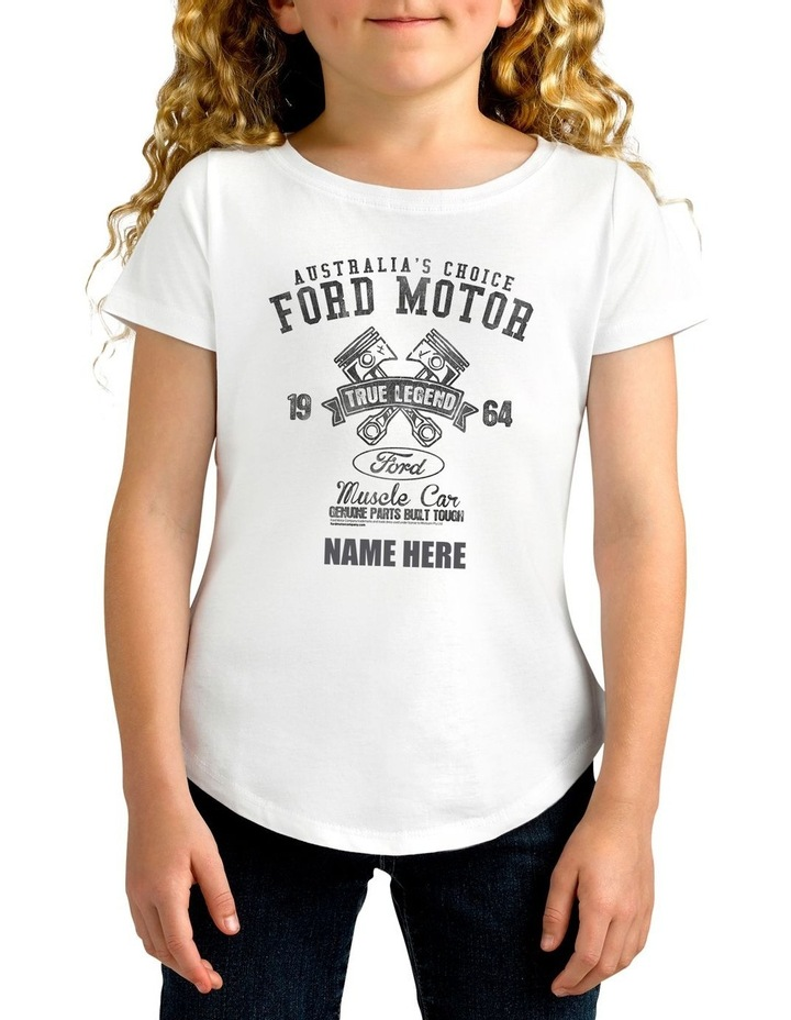 Girl's Ford 1925 True Legend Personalised Cotton T-Shirt image 1