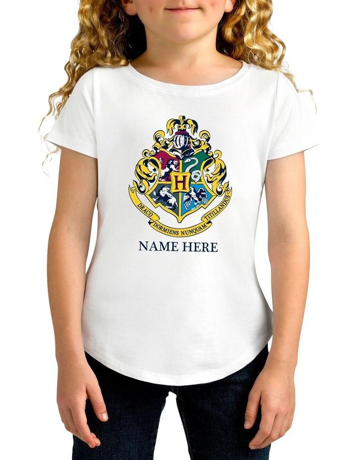 Girl's Harry Potter Emblem Personalised Cotton T-Shirt image 1