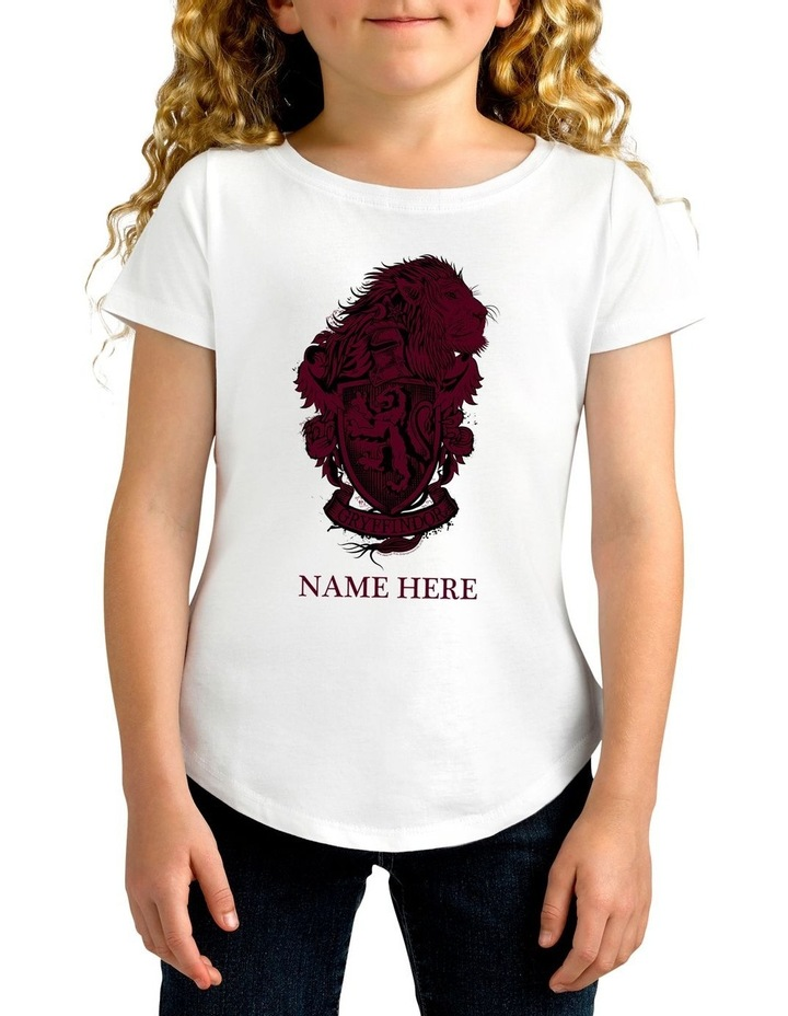 Girl's Harry Potter Gryffindor Personalised Cotton T-Shirt image 1