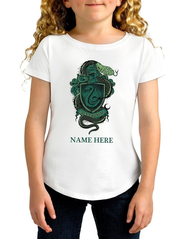 Girl's Harry Potter Slytherin Personalised Cotton T-Shirt image 1
