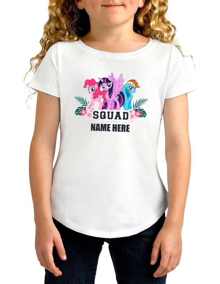 Girl's My Little Pony Squad Personalised Cotton T-Shirt image 1