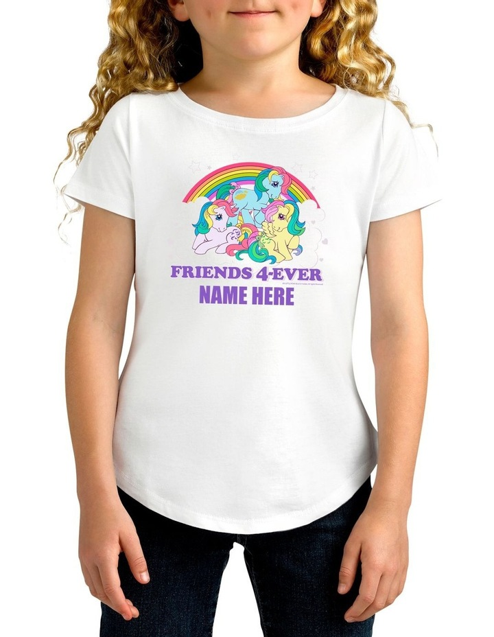 Girl's My Little Pony Friends 4-Ever Personalised Cotton T-Shirt image 1